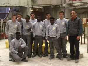 Photo de groupe des apprentis de seconde CAP maçonnerie